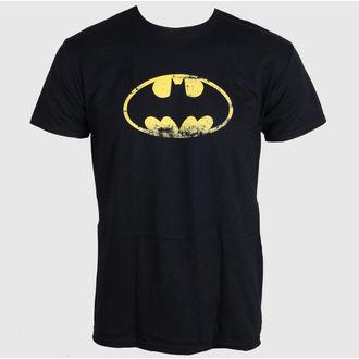 tricou cu tematică de film bărbați Batman - Distressed Logo - LIVE NATION, LIVE NATION