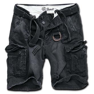 pantaloni scurți bărbați Brandit - Coajă Vale Greu Epocă - Negru, BRANDIT