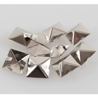 piramide metal - 10pcs, BLACK & METAL