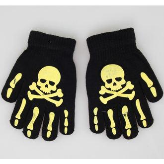 mănuși Craniu - Negru / Galben