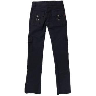pantaloni femei cireadă PIELE CHESTIE - Negru, NNM