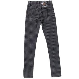pantaloni femei PENAL DETERIORA - Negru / alb