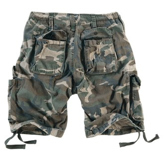 pantaloni scurți bărbați SURPLUS - airborne Epocă - Woodland Gewas, SURPLUS