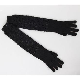 mănuși REGINĂ DE ÎNTUNERIC - Negru, QUEEN OF DARKNESS