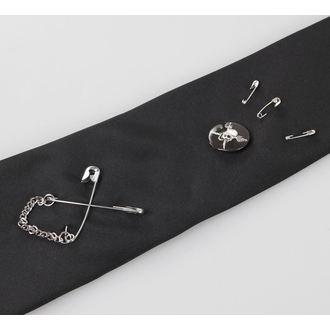 cravată REGINĂ DE ÎNTUNERIC - Negru, QUEEN OF DARKNESS
