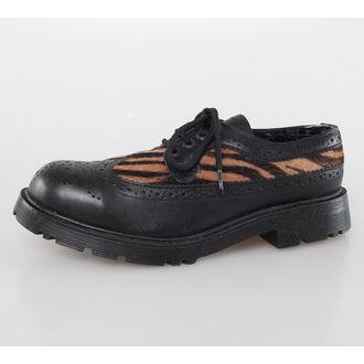 cizme piele femei - Blk Leather/Capucino Zebrino -