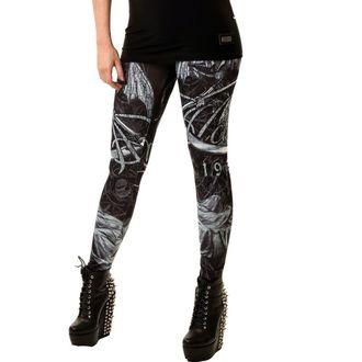 pantaloni femei (colanți) POIZEN INDUSTRIES - Moarte Dumnezeu, ALCHEMY BLACK