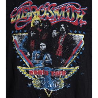tricou stil metal bărbați Aerosmith - Distressed World Tour - LIVE NATION, LIVE NATION, Aerosmith