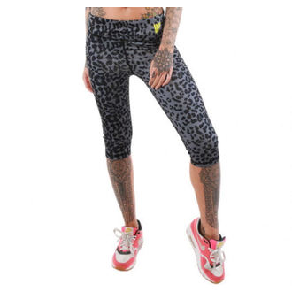 pantaloni femei 3/4 (colanți) IRON FIST - vedere pete - Negru, IRON FIST