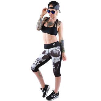 pantaloni femei 3/4 (colanți) IRON FIST - afânat Dinte - Negru, IRON FIST