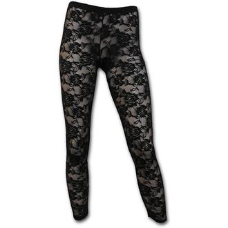 pantaloni femei (colanți) SPIRALĂ - gotic Eleganţă - Negru, SPIRAL