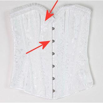 Corset damă DRACULA CLOTHG - White - DAMAGED, DRACULA CLOTHING