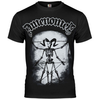 tricou hardcore bărbați - Skeleton Da Vinci - AMENOMEN - OMEN020KM