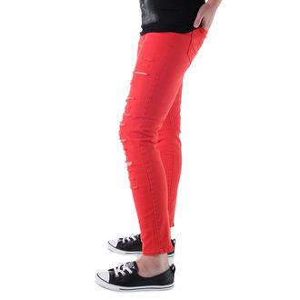 pantaloni femei VANS - Înalt Creştere Înapoi Fermoar Flacără - Stacojiu, VANS