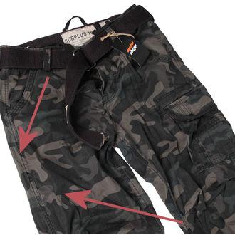 pantaloni bărbați SURPLUS - premiu Epocă - Negru camo - DETERIORATĂ, SURPLUS