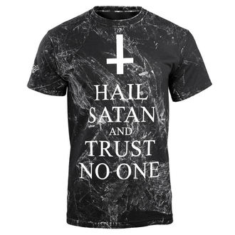 tricou hardcore bărbați - HAIL SATAN AND TRUST NO ONE - AMENOMEN, AMENOMEN