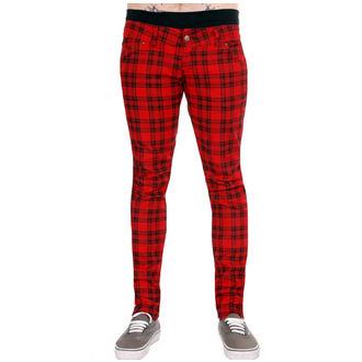 pantaloni bărbați 3RDAND56th - Înregistrate - Negru / Roșu, 3RDAND56th