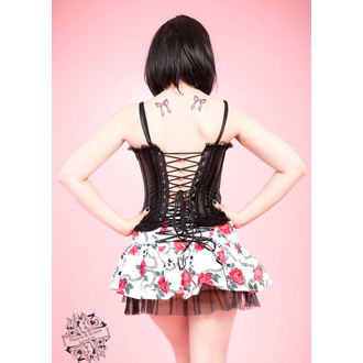 corset femei INIMI ȘI ROSES - Negru, HEARTS AND ROSES