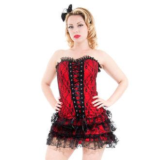 rochie femei INIMI ȘI ROSES - roșu Moulin sulimeni, HEARTS AND ROSES