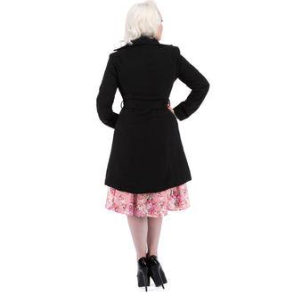 haină femei primăvară toamnă INIMI ȘI ROSES - Negru Negru Îmbulzesc, HEARTS AND ROSES