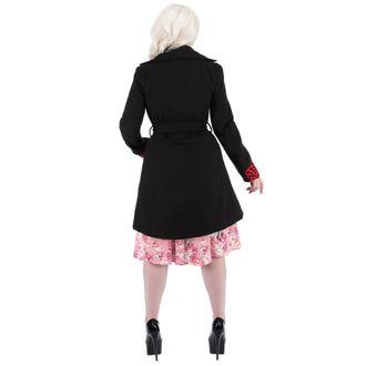 haină femei primăvară toamnă INIMI ȘI ROSES - Negru roșu Îmbulzesc, HEARTS AND ROSES