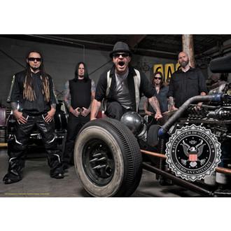 steag Cinci Deget Moarte Lovi cu pumnul - Fotografie de formație, HEART ROCK, Five Finger Death Punch