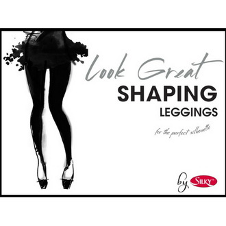 pantaloni femei (colanți) Colanții - Uite Grozav conturarea - Negru, LEGWEAR
