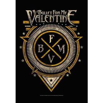 steag Bullet For my Valentine - Emblemă, HEART ROCK, Bullet For my Valentine