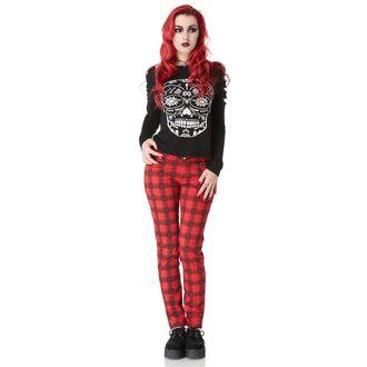 pantaloni femei VOODOO VULPE - roșu soldat scoțian, JAWBREAKER
