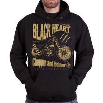 hanorac cu glugă bărbați - Chopper And Bobber - BLACK HEART