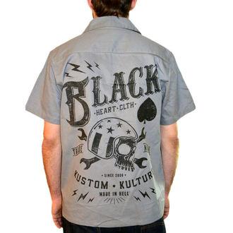 cămaşă bărbați NEGRU INIMĂ - Cheie Craniu - Negru, BLACK HEART