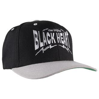 șapcă NEGRU INIMĂ - agrafă Înapoi - Negru / Gri, BLACK HEART