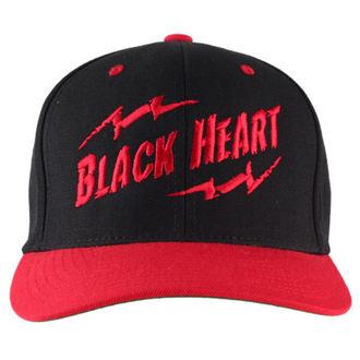 șapcă NEGRU INIMĂ - agrafă Înapoi - Negru / Roșu, BLACK HEART