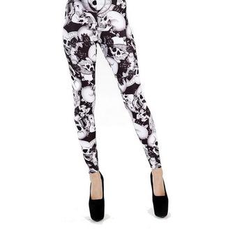 pantaloni femei (colanți) PAMELA MANN - Riley - Negru / alb, PAMELA MANN