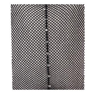 colanti PAMELA MANN - Plasa de peste cusută Colanti Negru Cu Diamante Cusătură - Negru, PAMELA MANN