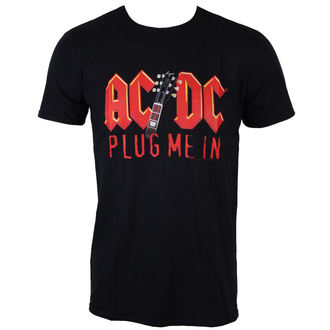 tricou stil metal bărbați AC-DC - Plug me in with Angus Young - LOW FREQUENCY, LOW FREQUENCY, AC-DC