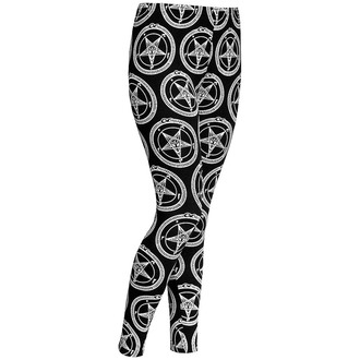 pantaloni femei (colanți) KILLSTAR - Baphomet - Negru, KILLSTAR