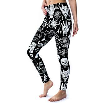 pantaloni femei (colanți) KILLSTAR - Rău - Negru, KILLSTAR