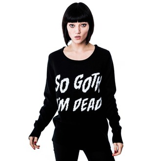 pulover (unisex) KILLSTAR - Asa de got - Negru, KILLSTAR