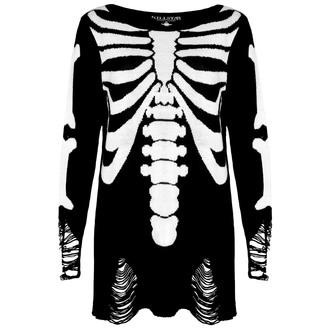 pulover (unisex) KILLSTAR - skeletor - Negru, KILLSTAR