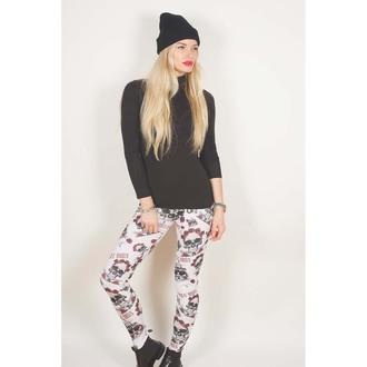pantaloni femei (colanți) Guns N' Roses - Craniu & trandafiri - ROCK OFF, ROCK OFF, Guns N' Roses