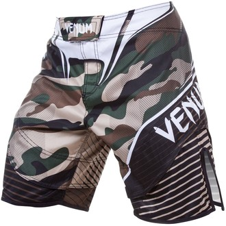 Pantaloni bărbătești scurți de box VENUM - Camo Hero - Green / Brown, VENUM
