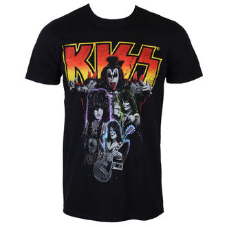 tricou stil metal bărbați Kiss - Neon Band - PLASTIC HEAD, PLASTIC HEAD, Kiss