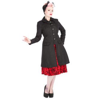 haină femei primăvară / toamnă INIMI ȘI ROSES - Brocart Militar - Negru, HEARTS AND ROSES