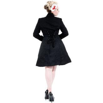 haină femei primăvară / toamnă INIMI ȘI ROSES - Negru Brocart, HEARTS AND ROSES