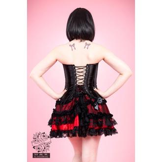 corset femei INIMI ȘI ROSES - Negru Satin, HEARTS AND ROSES