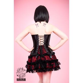 corset femei INIMI ȘI ROSES - Negru Dantelă, HEARTS AND ROSES