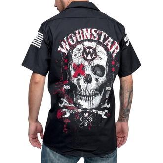 cămaşă bărbați WORNSTAR - Moarte Mecanic - Negru, WORNSTAR