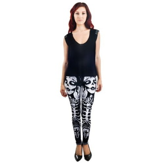 pantaloni femei (colanți) TOO FAST - ELIBERARE THE BATS - Negru, TOO FAST