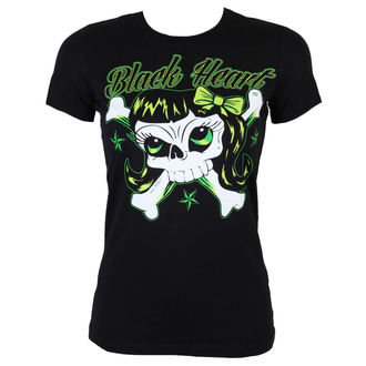 tricou de stradă femei - Bones Girl - BLACK HEART, BLACK HEART